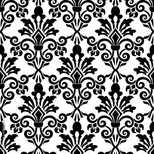 Fotografía  Vector damask seamless pattern background