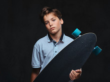 Portrait Of A Young Skater Boy...