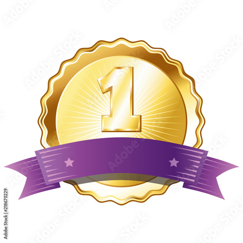 Best Quality Ribbon Number 1 Stock Vector Image & Art - Alamy