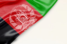 Flag Of Afghanistan - There Is A White Background And A Place For The Text