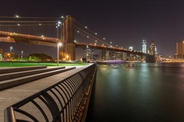 beautiful Manhattan skyline at night