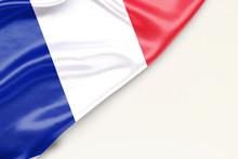 Flag Of France: White Backgrou...