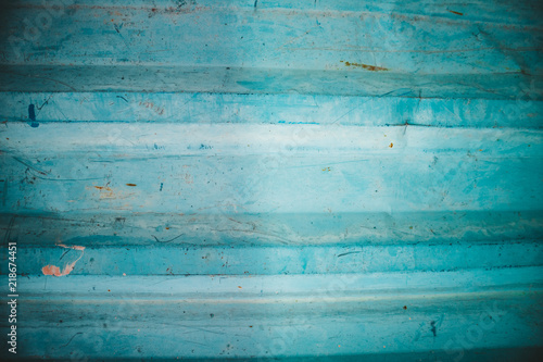 Fotobehang Retro Steel turquoise fence with pattern, background