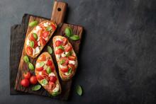 Bruschetta With Tomatoes, Mozz...