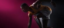 Sport. Isolated Athlete Runner...