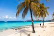 Idyllic beach at Caribbean