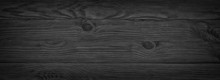 Panorama Of Black Wooden Board...