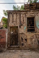 Fototapeta na wymiar Traditional Turkish House Waiting for Restoration and Renovation in Eskisehir