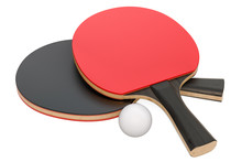 Table Tennis Equipment, 3D Ren...