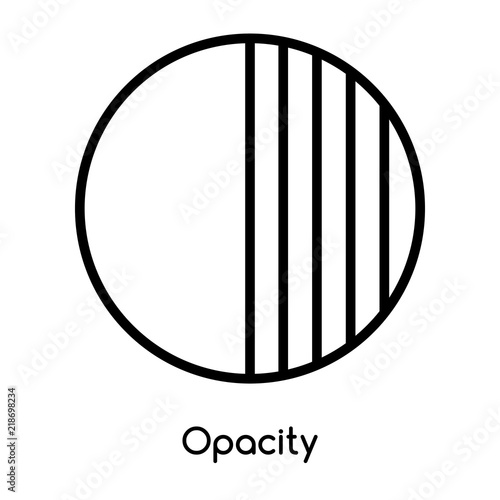 Obraz na plátně Opacity icon vector isolated on white background, Opacity sign , line or linear