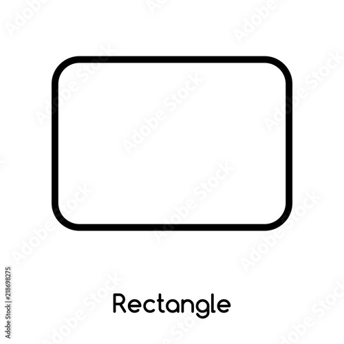 Fotografía  Rectangle icon vector isolated on white background, Rectangle sign , line or lin