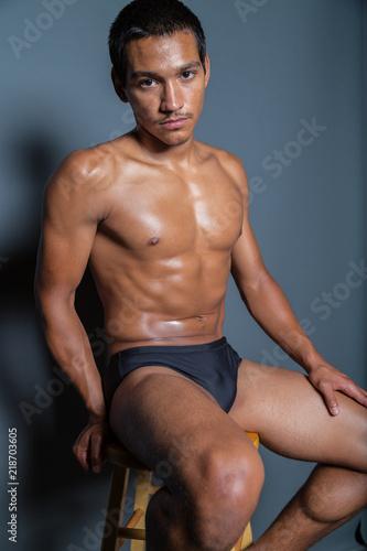 Fotografie, Obraz  Man on a Stool