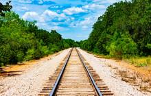 Railroad Tracks In Rural Texas
