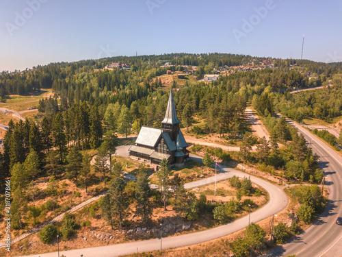 Photo  Aerial of Holmenkollen Chapel in Oslo, Norway