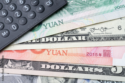 Us And China Finance Currency Exchange Trade War Import Export Or World Economy