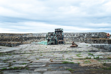 Lobster Traps On Scottish Wharf