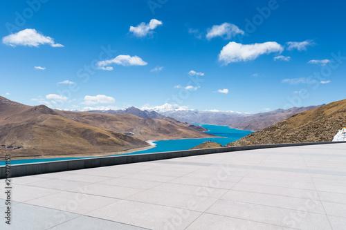 Obraz na plátně plateau holy lake landscape