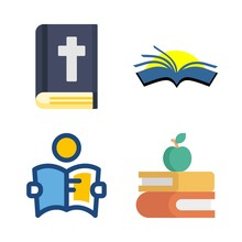 Library Vector Icons Set. Bibl...