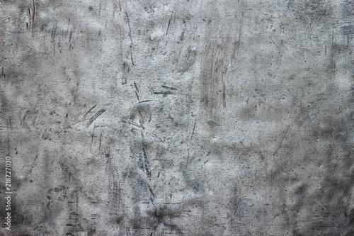 Fototapeta  Dirty steel sheet texture, metallic background with damage