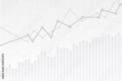 Abstract Infographics Visualization Business Chart Graph With Three