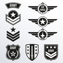 Army And Military Badge Set. S...