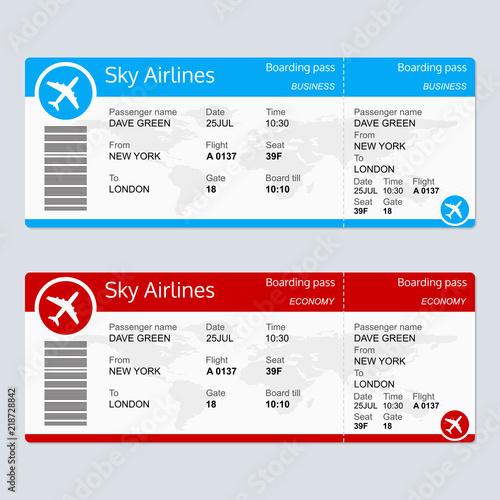 Cuadros en Lienzo Plane ticket template