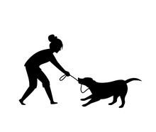 Dog Misbehaving Tugging Biting...