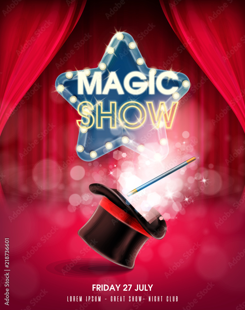 Fototapeta magic show banner