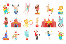 Circus Related Objects And Cha...
