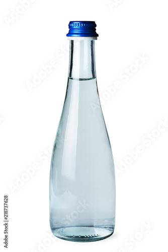 Small glass bottle with water Canvas Print
