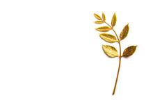Autumn Golden Leaf With Copy S...