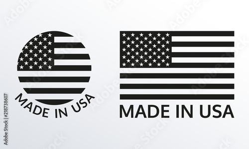 Made in USA logo or label set Poster Mural XXL