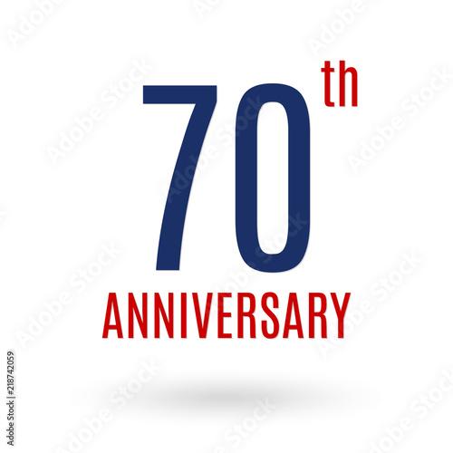 70 Years Anniversary Logo 70th Celebration Icon Birthday Invitation Wedding