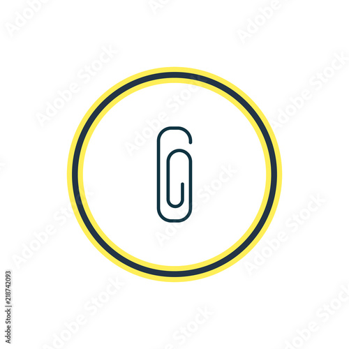 Fotografie, Obraz  Vector illustration of clip icon line