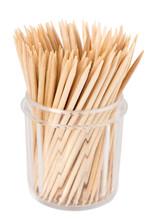 Toothpicks On White Background