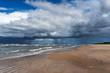 Big clouds above Baltic sea next to Liepaja, Latvia.