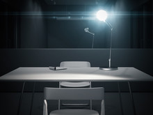 Dark Interrogation Room With S...