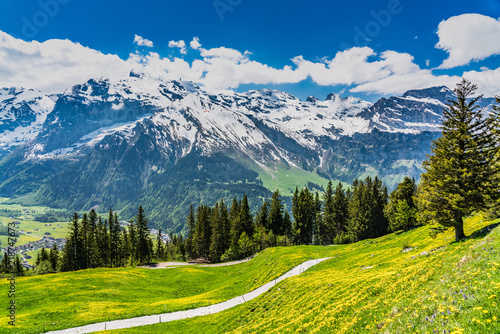 Switzerland, Engelberg Alps panoramic view