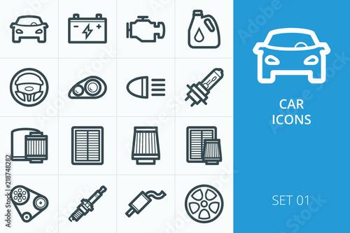 Fényképezés  Car icons set