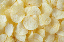 Crispy Potato Chips Snack Text...