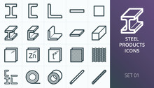 Metal And Steel Products Icon ...