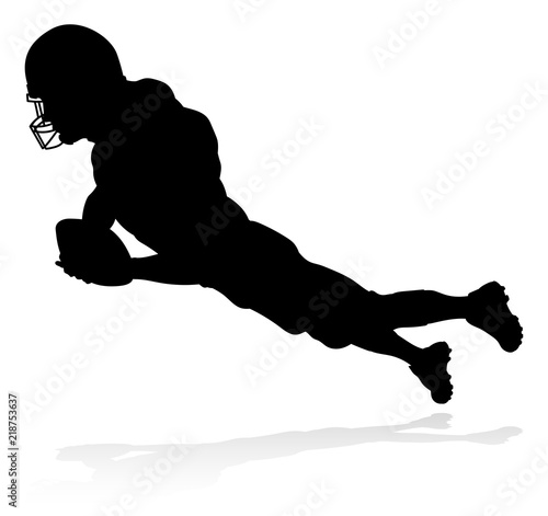 Photo  American Football Player Silhouette