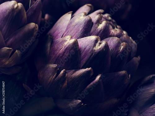Photo Closeup of a fresh artichoke