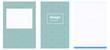 Light Blue, Green vector background for books.