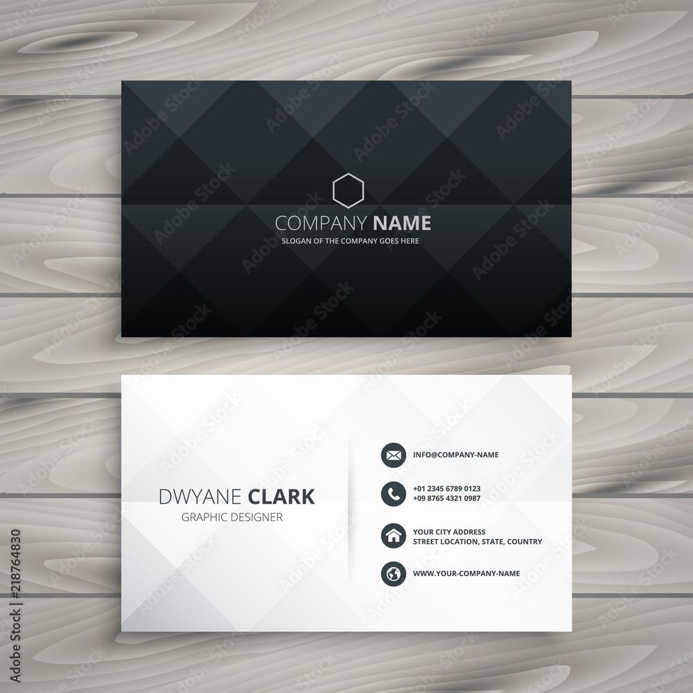 Fototapety, obrazy: modern black and white business card design