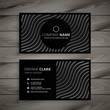 elegant black business card design