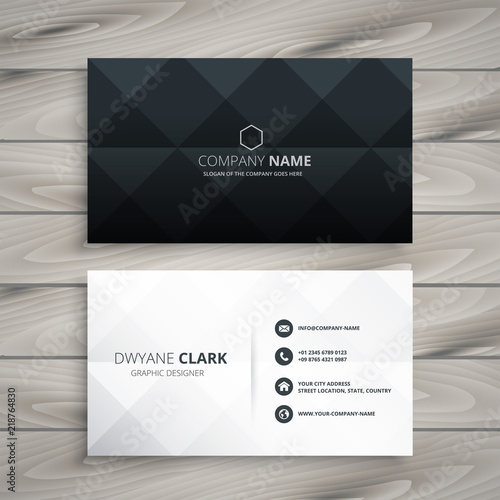 Valokuva  modern black and white business card design