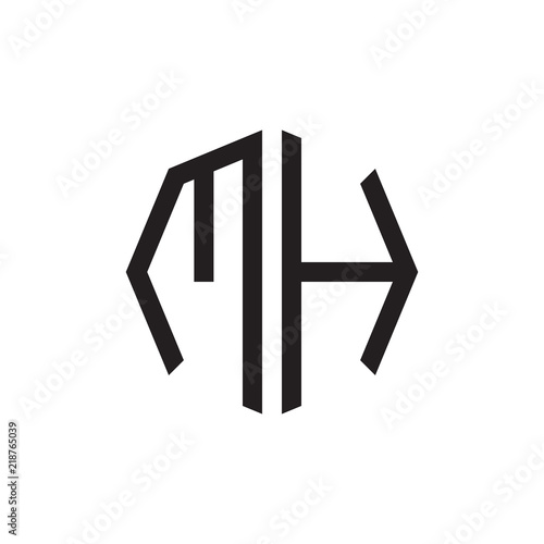 two letter mh octagon logo