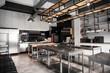 canvas print picture - Interior of professional kitchen in restaurant
