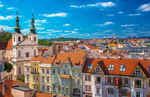 Photo  View on the old town of Brno, Czech Republic